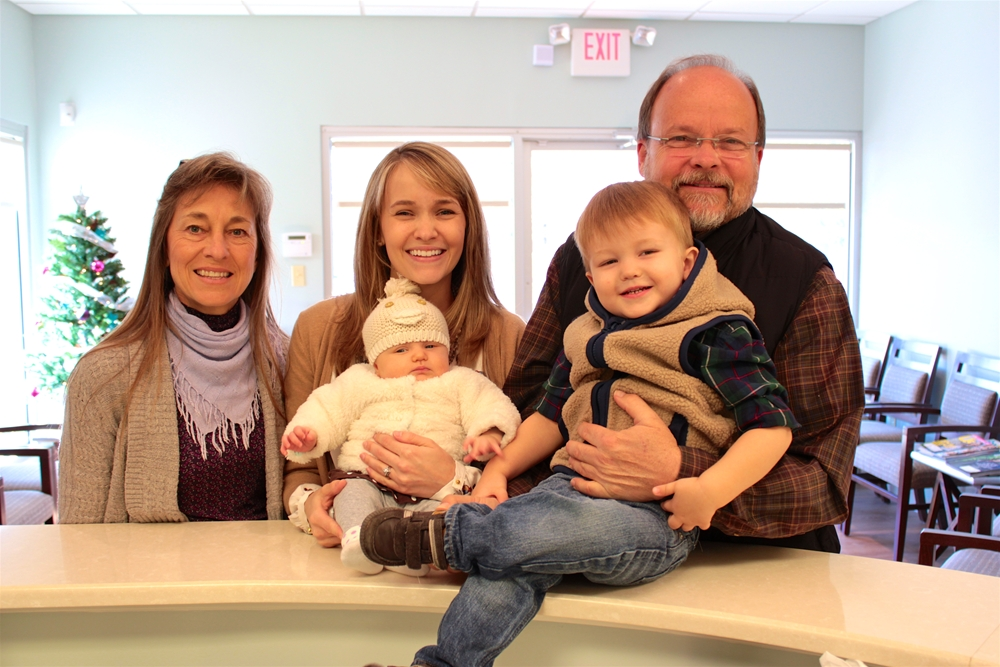 The Brinleys met Dr. Fagala's family at Saddle Creek Orthodontics in Germantown, Tennessee