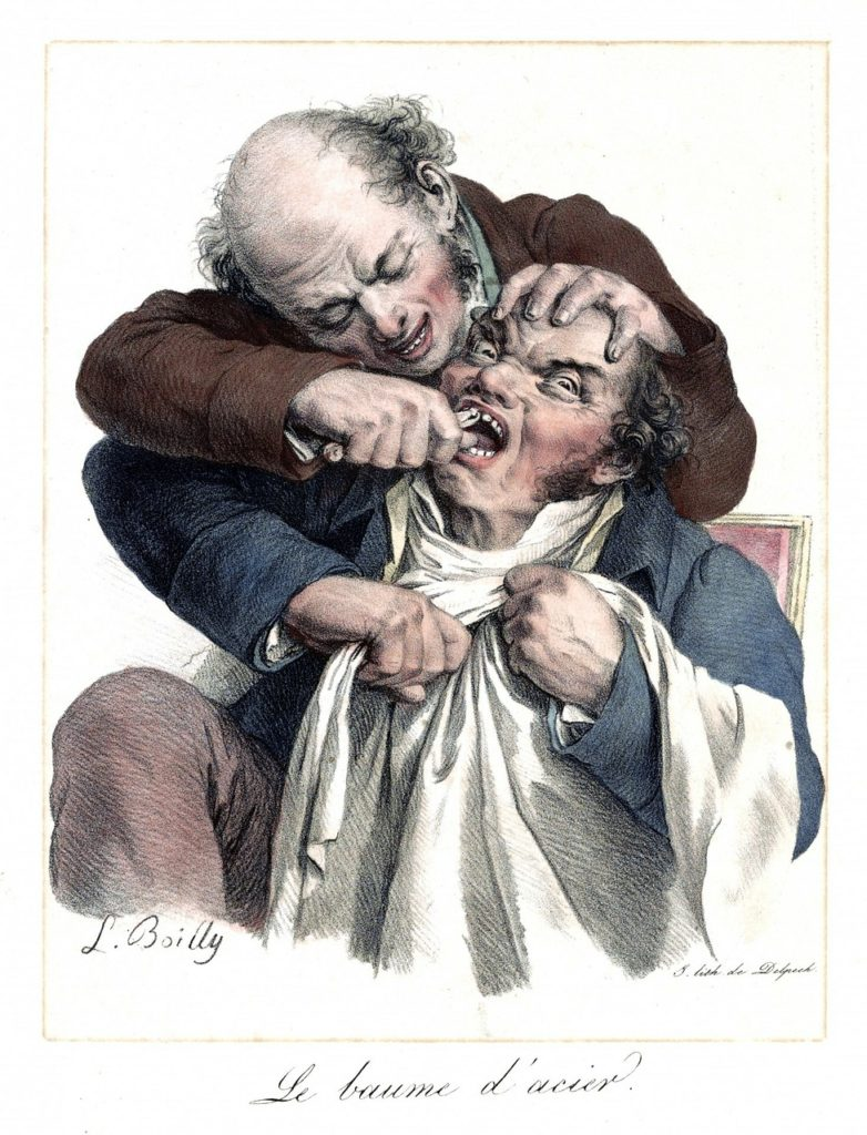 Tooth Extraction Painting - History of Dentistry and Orthodontics